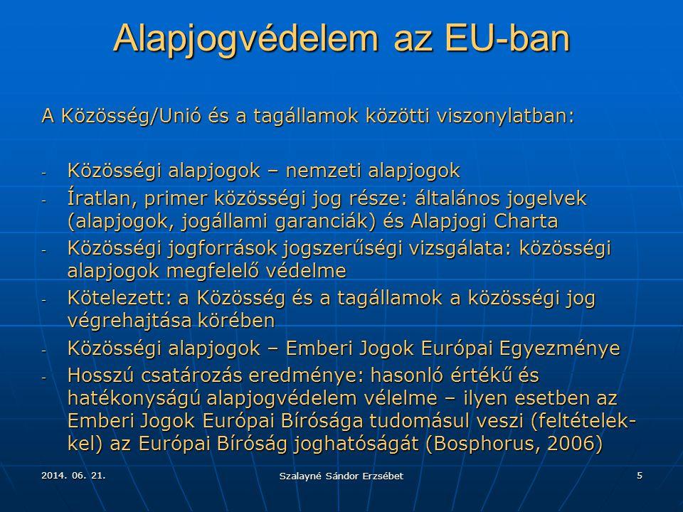 Alapjogvédelem az EU-ban