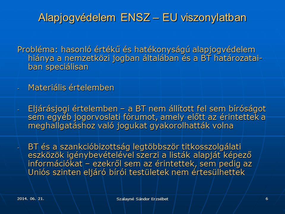 Alapjogvédelem ENSZ – EU viszonylatban