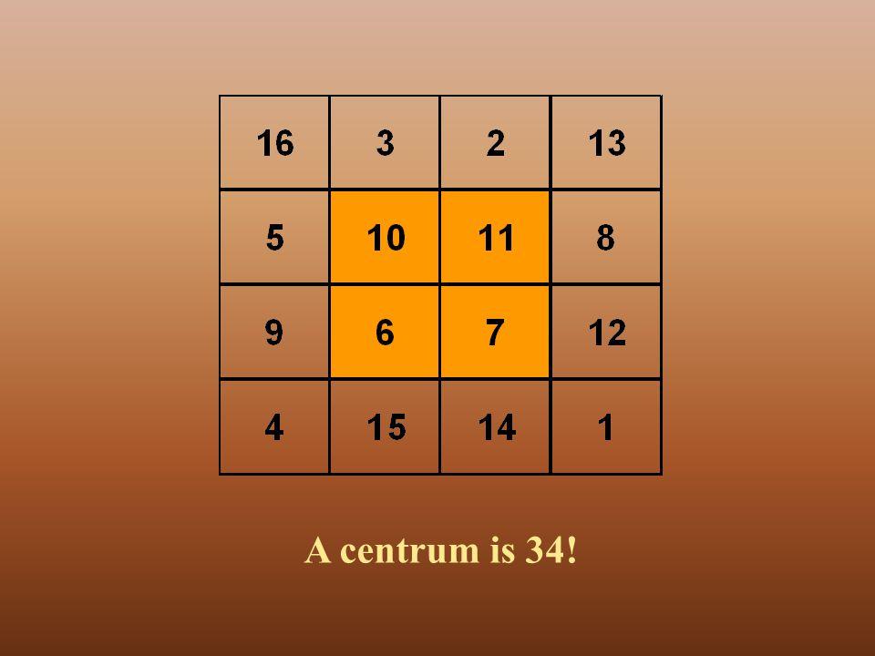 A centrum is 34!