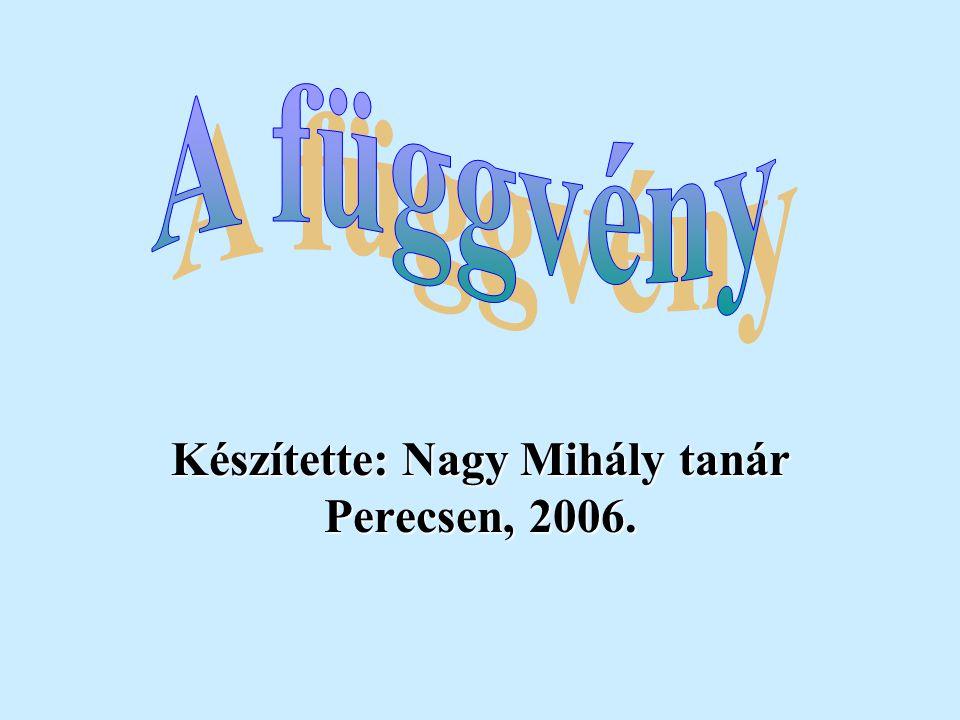 Készítette: Nagy Mihály tanár Perecsen, 2006.