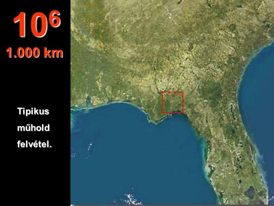 106 1.000 km Tipikus műhold felvétel.
