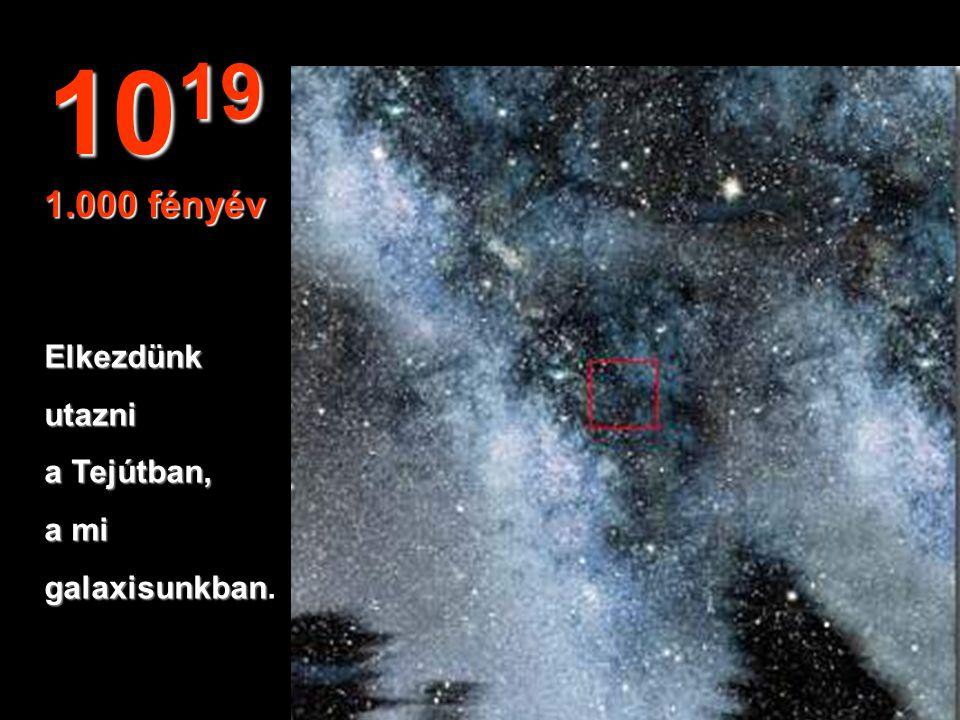 1019 1.000 fényév Elkezdünk utazni a Tejútban, a mi galaxisunkban.