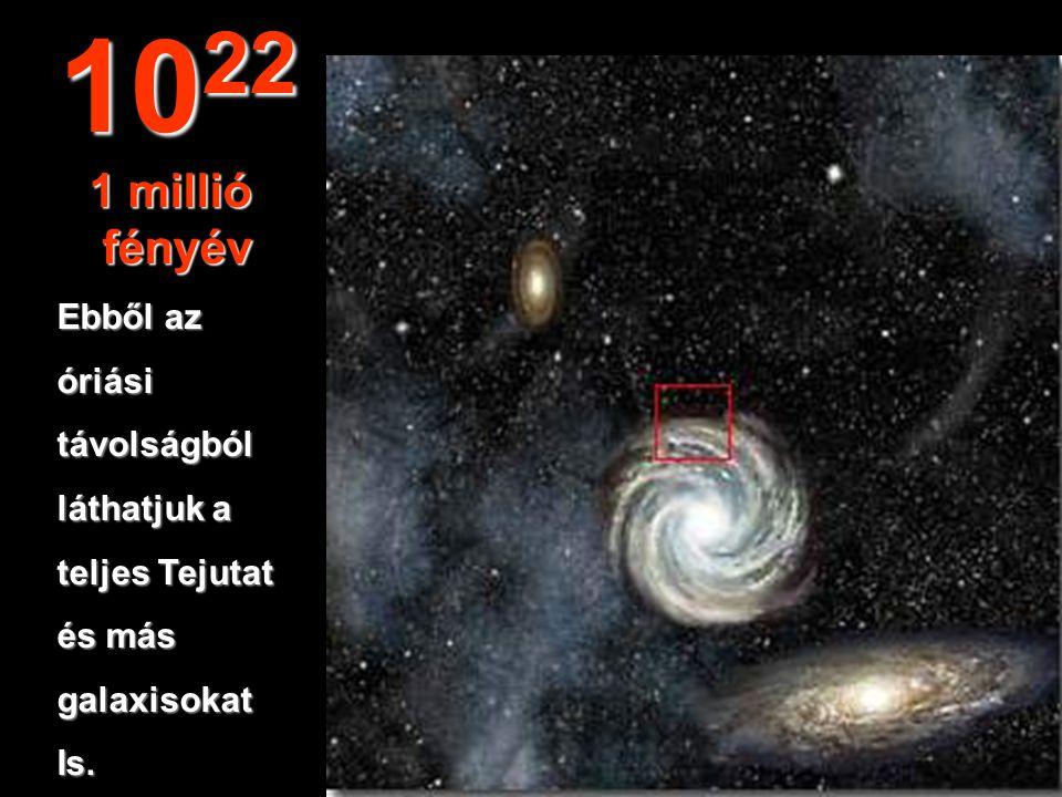 1022 1 millió fényév Ebből az óriási távolságból láthatjuk a