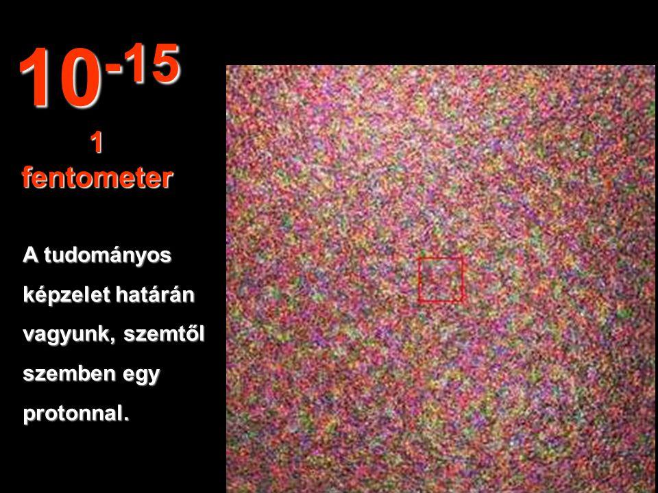 10-15 1 fentometer A tudományos képzelet határán vagyunk, szemtől