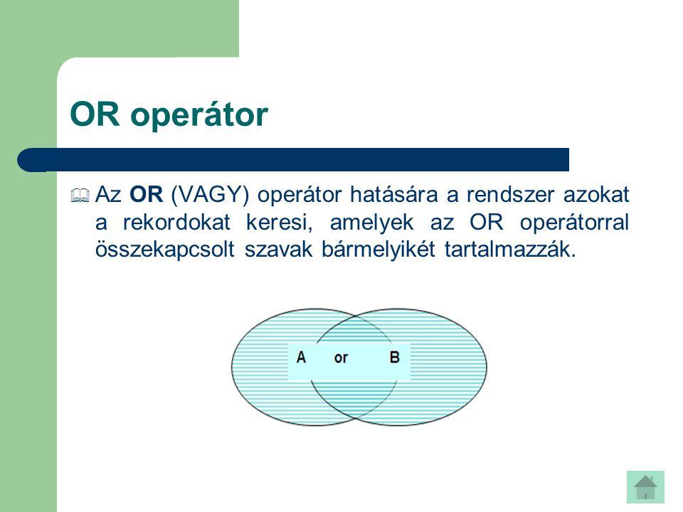 OR operátor