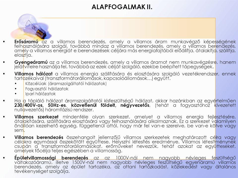 ALAPFOGALMAK II.