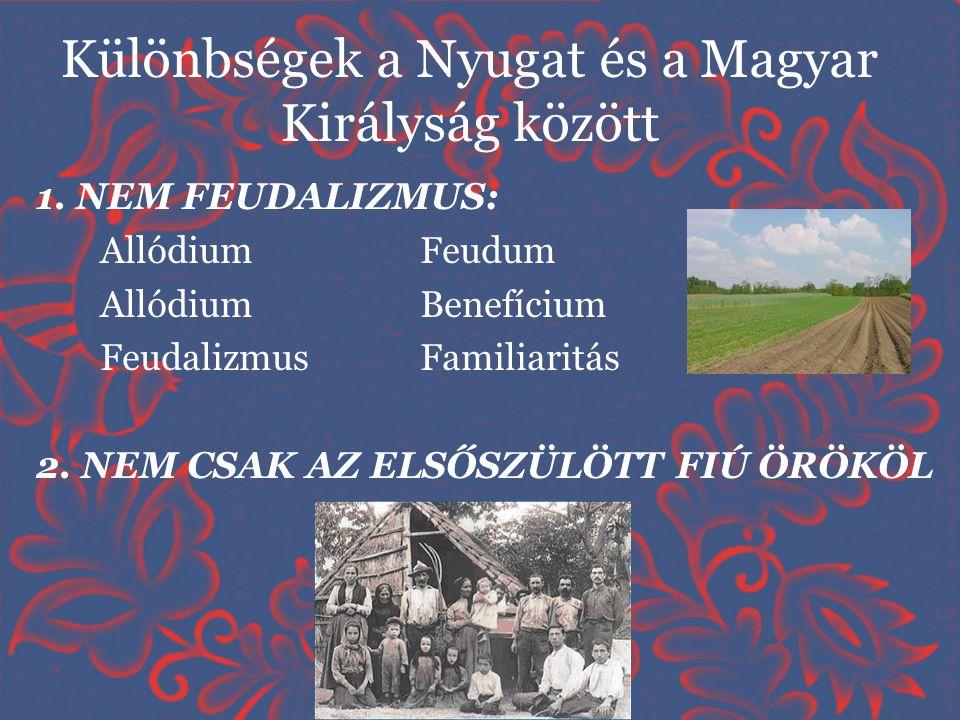 Különbségek a Nyugat és a Magyar Királyság között