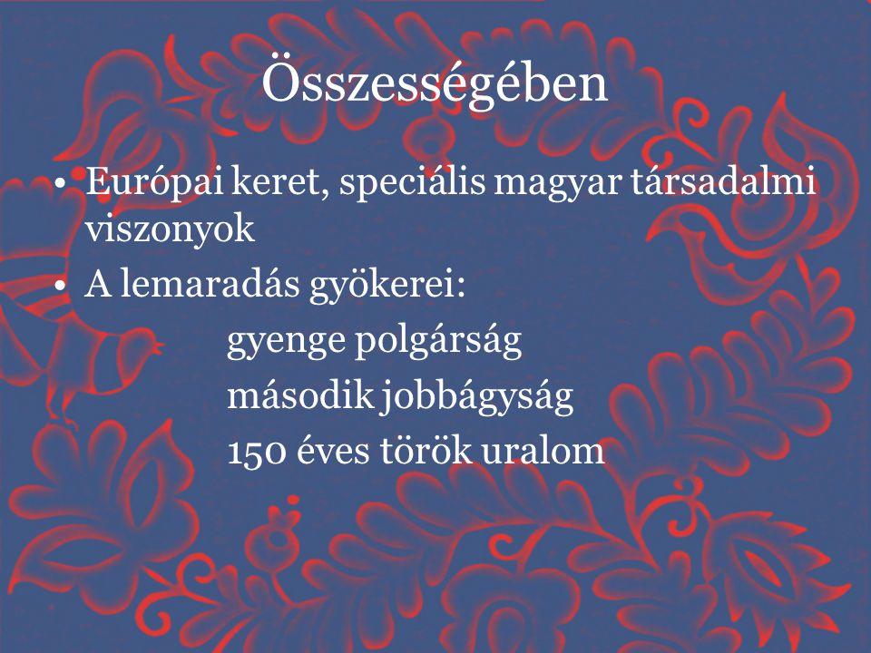 Összességében Európai keret, speciális magyar társadalmi viszonyok