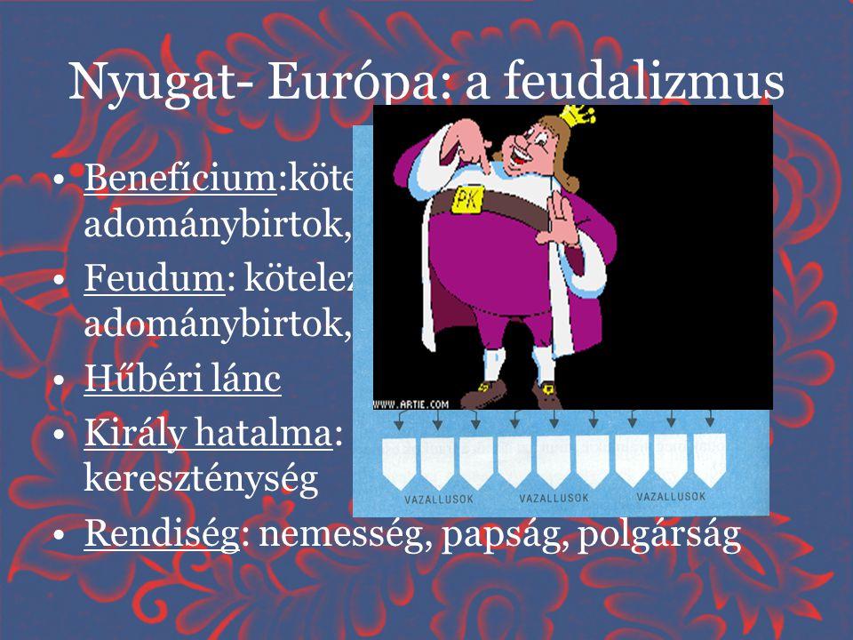 Nyugat- Európa: a feudalizmus