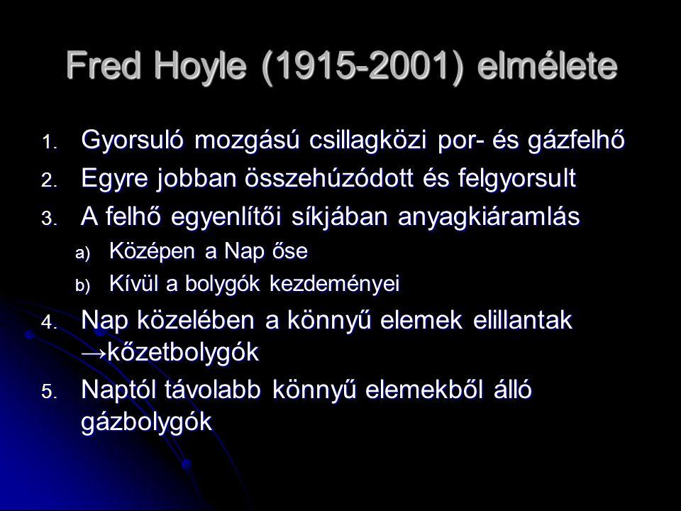 Fred Hoyle (1915-2001) elmélete