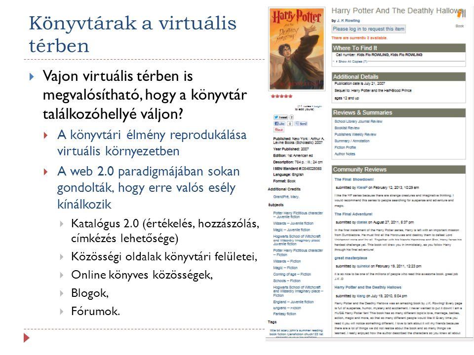 Könyvtárak a virtuális térben