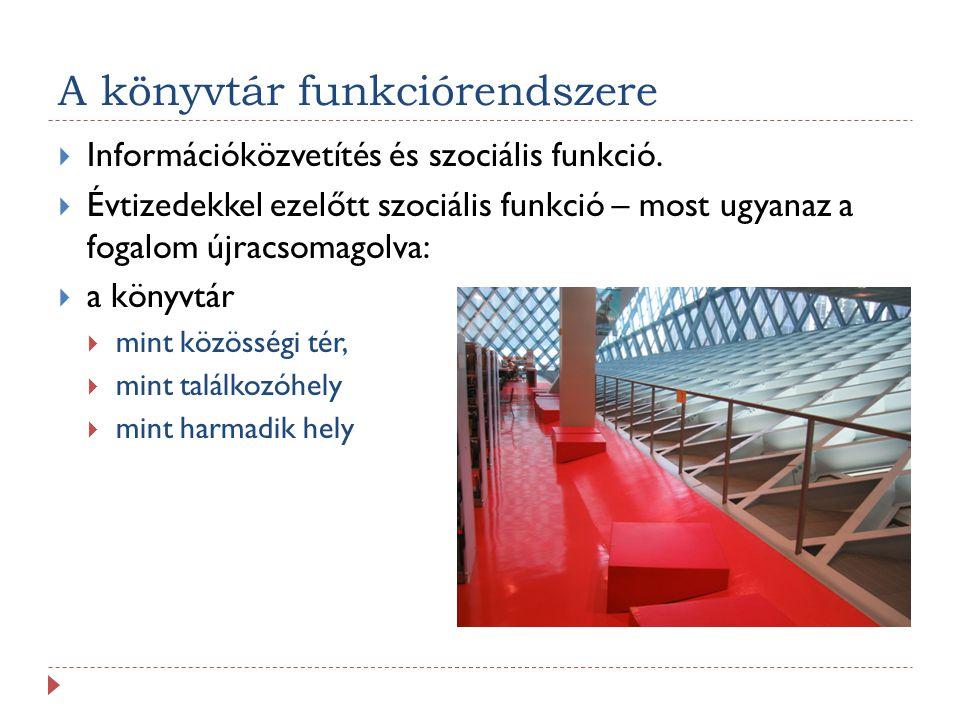 A könyvtár funkciórendszere