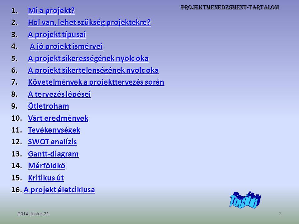 Projektmenedzsment-tartalom