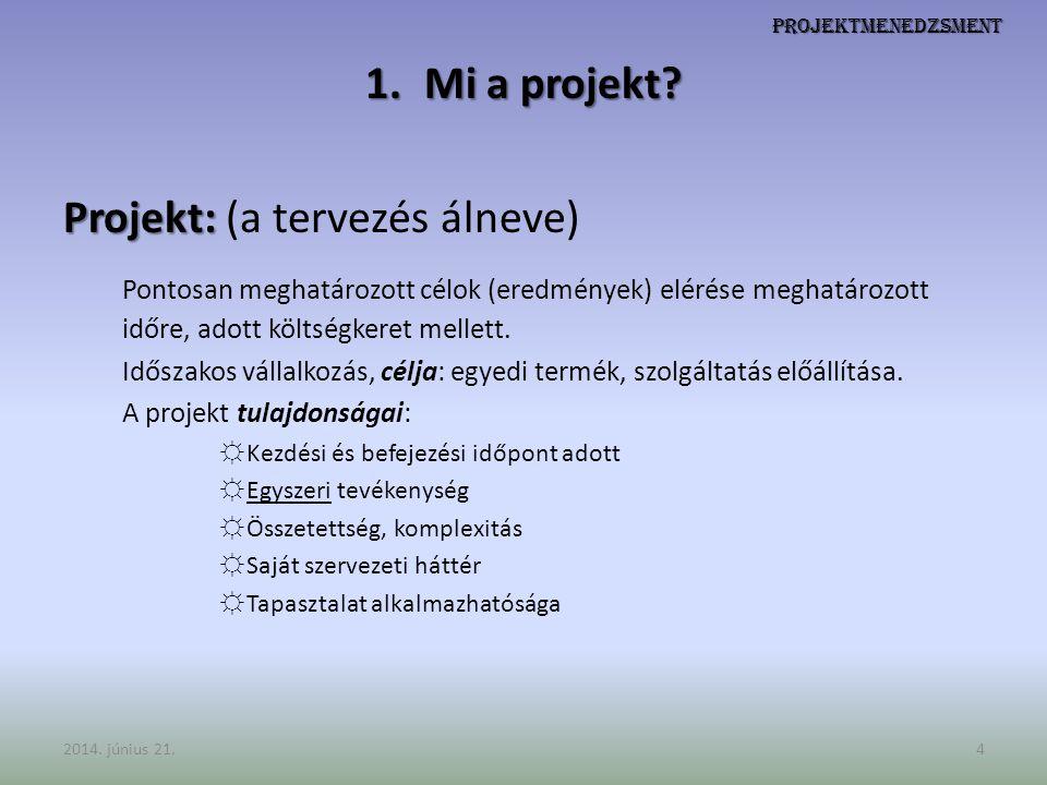 Projekt: (a tervezés álneve)