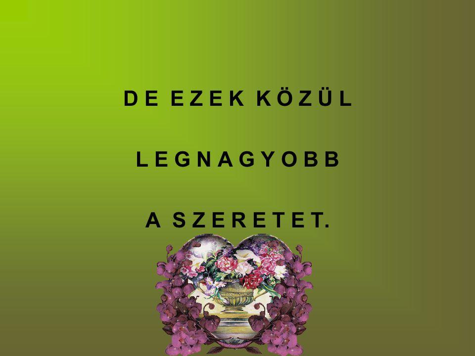 D E E Z E K K Ö Z Ü L L E G N A G Y O B B A S Z E R E T E T.