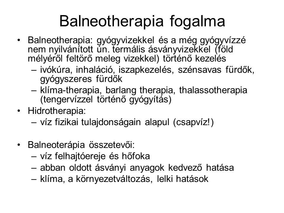 Balneotherapia fogalma