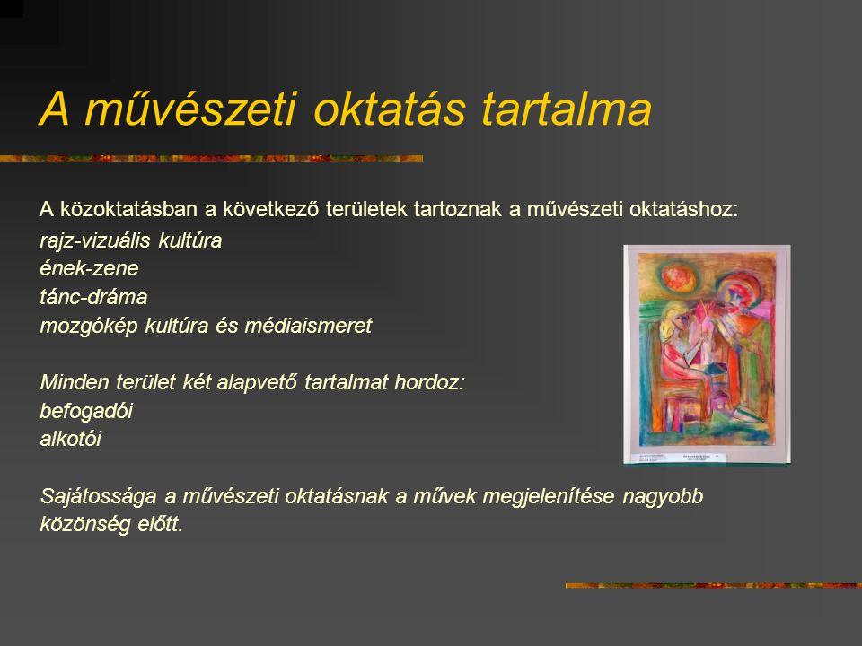 A művészeti oktatás tartalma