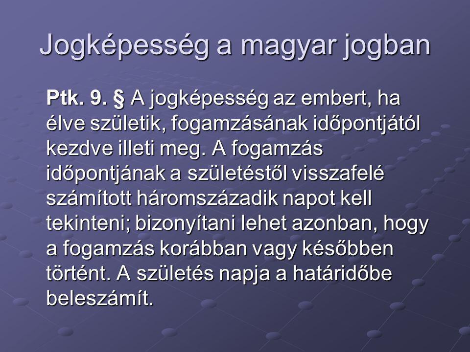 Jogképesség a magyar jogban