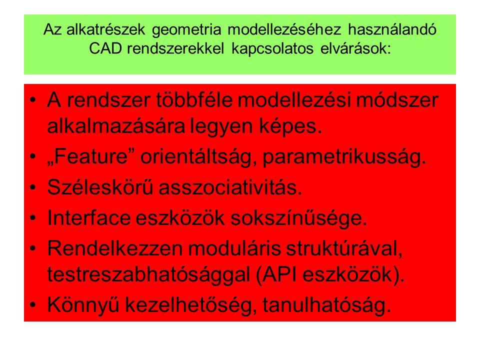 A rendszer többféle modellezési módszer alkalmazására legyen képes.