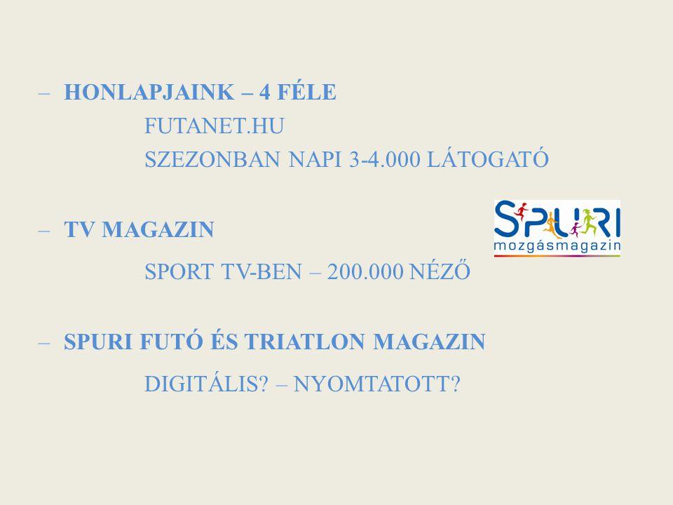 SZEZONBAN NAPI 3-4.000 LÁTOGATÓ TV MAGAZIN