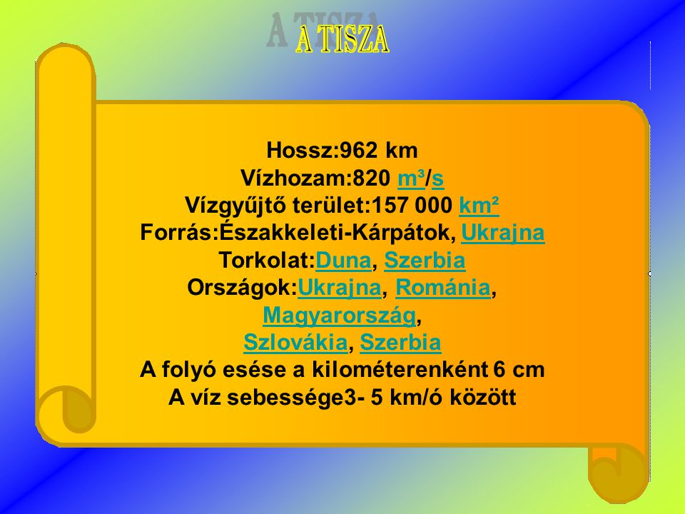 Vízgyűjtő terület:157 000 km² Forrás:Északkeleti-Kárpátok, Ukrajna
