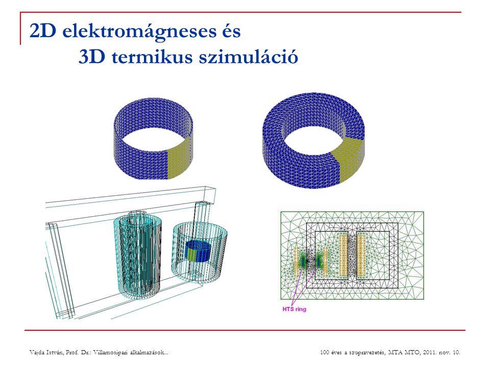 2D elektromágneses és 3D termikus szimuláció