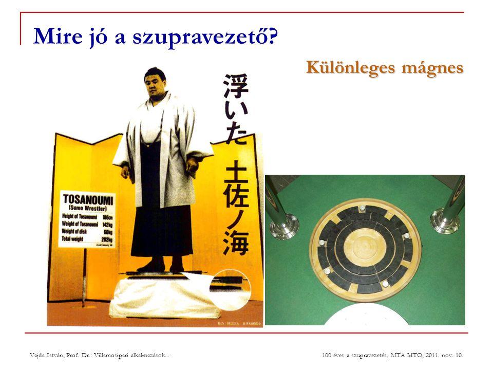 Mire jó a szupravezető Különleges mágnes 27 July 2004