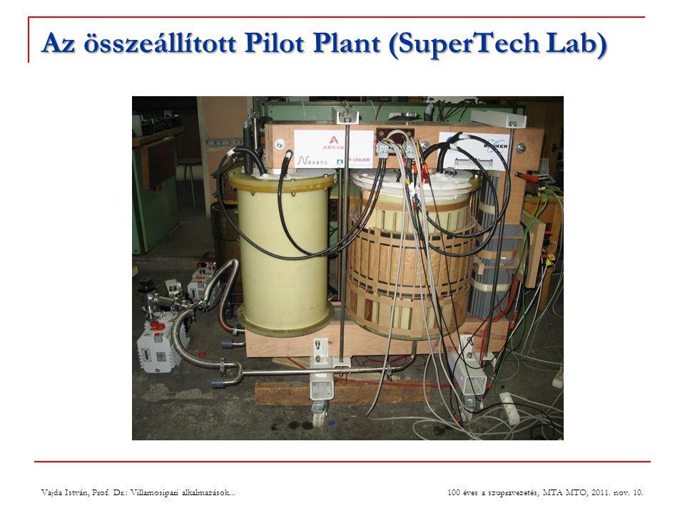 Az összeállított Pilot Plant (SuperTech Lab)