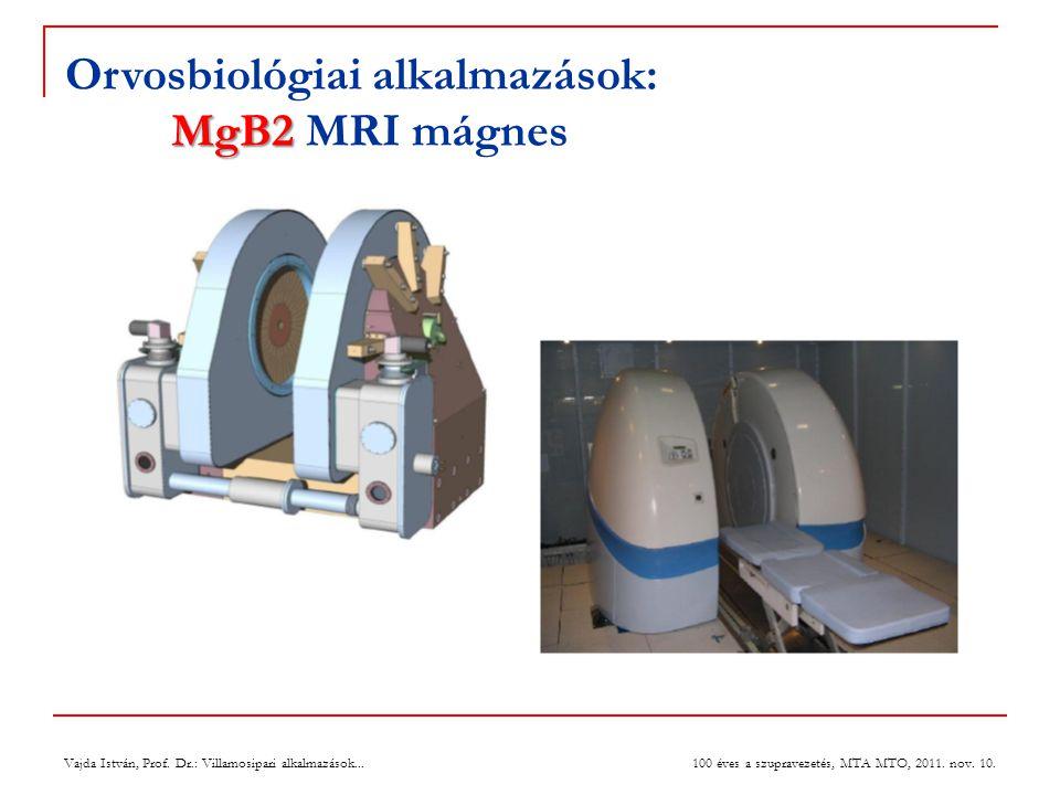 Orvosbiológiai alkalmazások: MgB2 MRI mágnes