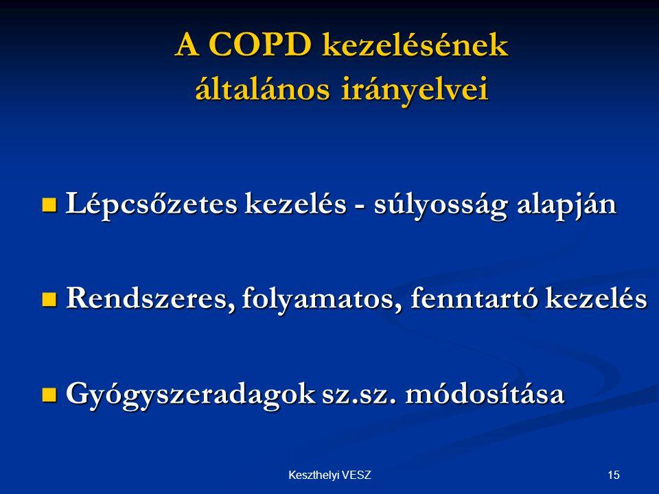 A COPD kezelésének általános irányelvei