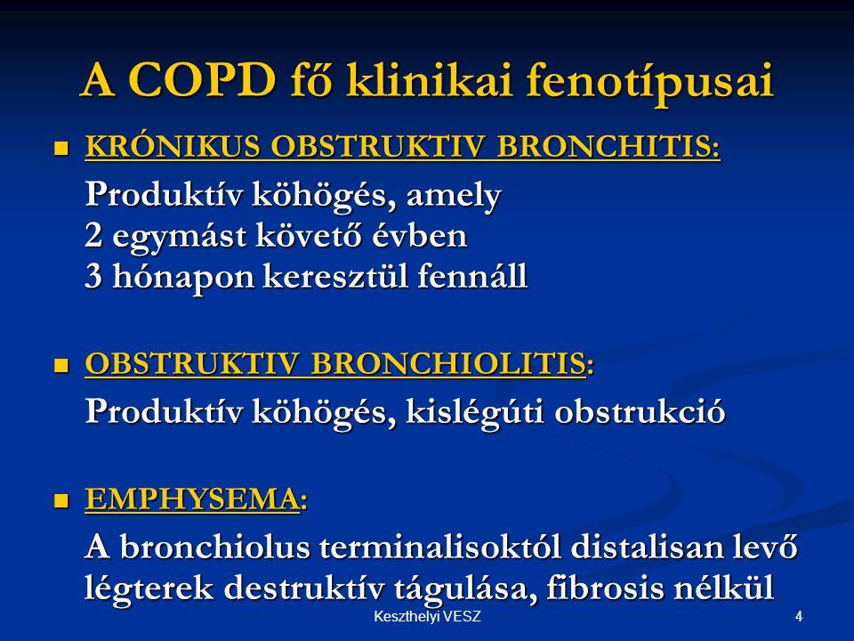 A COPD fő klinikai fenotípusai