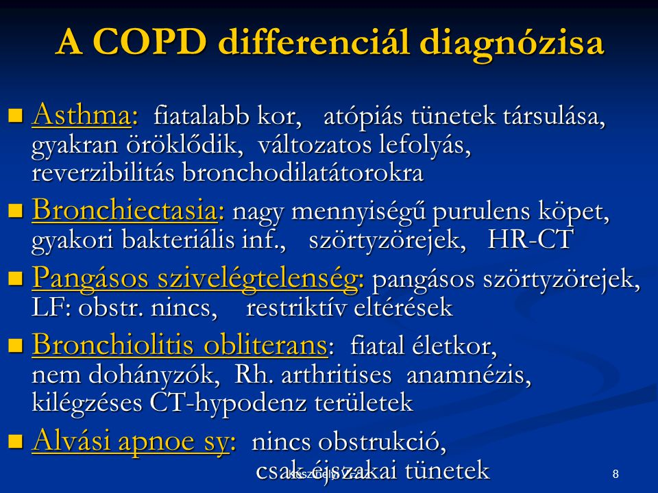 A COPD differenciál diagnózisa