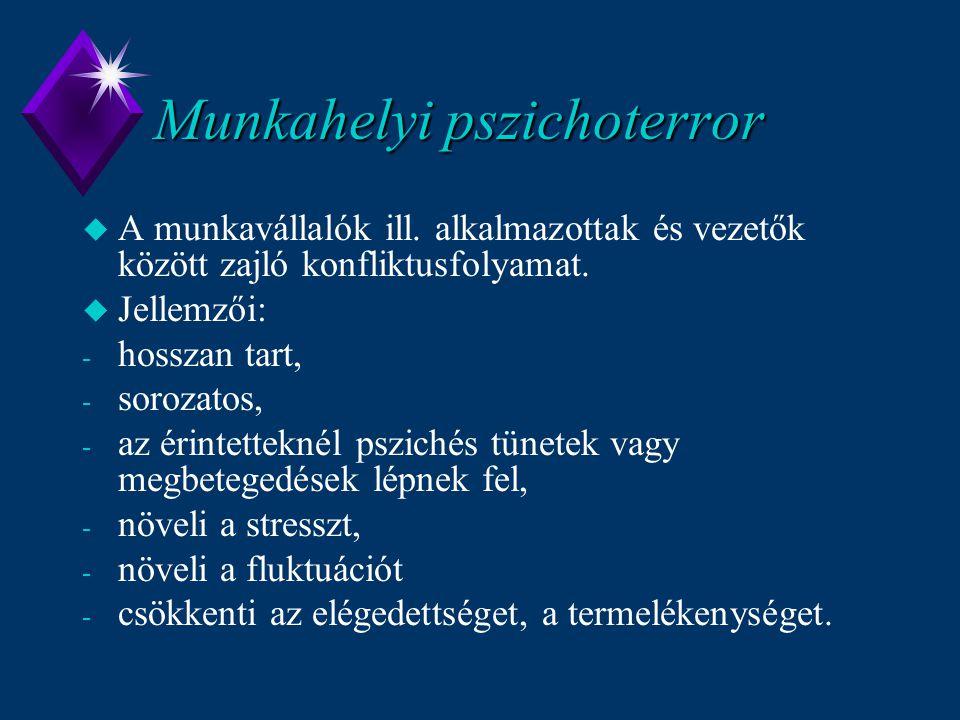 Munkahelyi pszichoterror