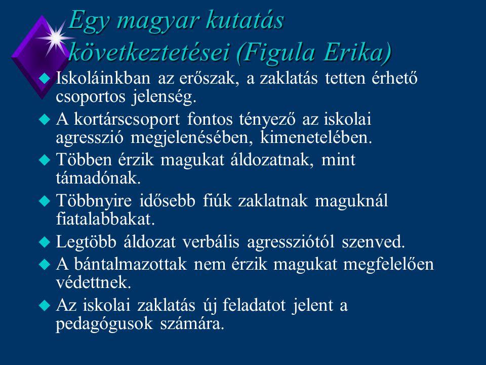 Egy magyar kutatás következtetései (Figula Erika)