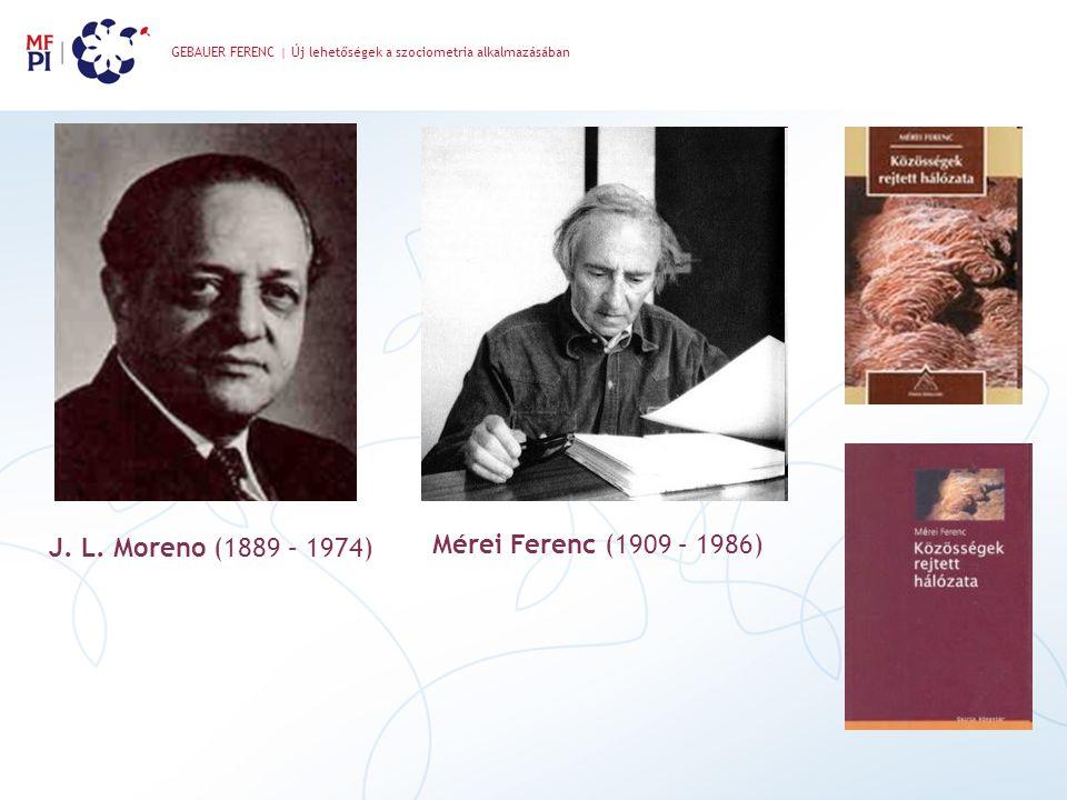 Mérei Ferenc (1909 – 1986) J. L. Moreno (1889 – 1974)
