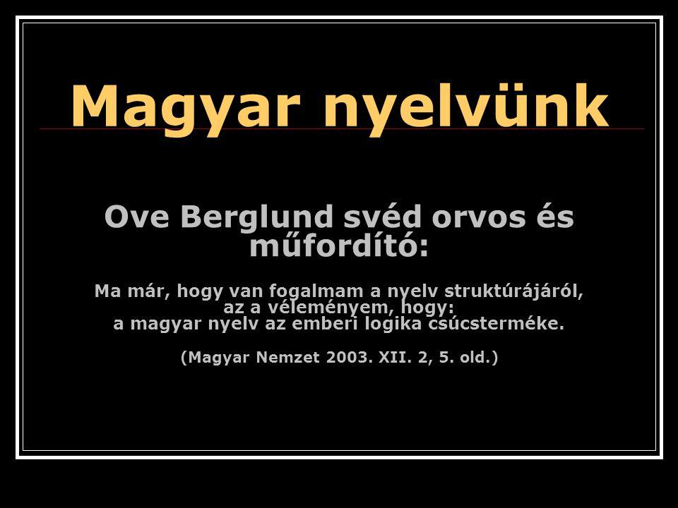 Magyar nyelvünk