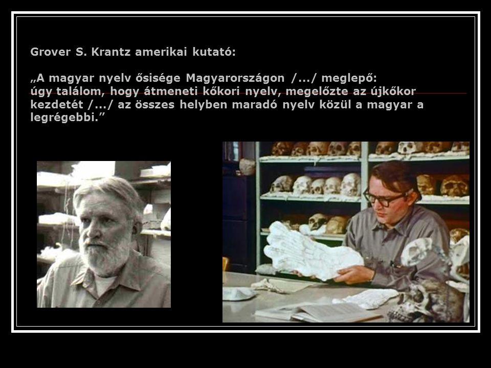 Grover S. Krantz amerikai kutató:
