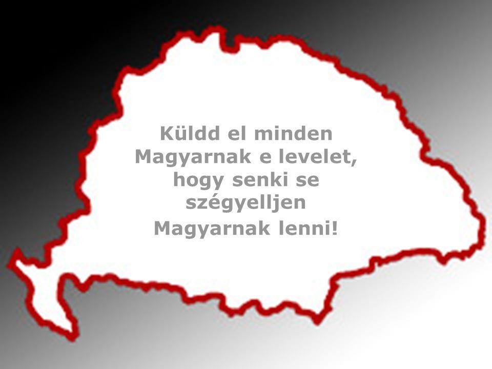 Küldd el minden Magyarnak e levelet, hogy senki se szégyelljen Magyarnak lenni!