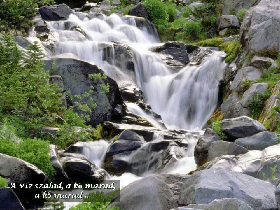 A víz szalad, a kő marad, a kő marad...