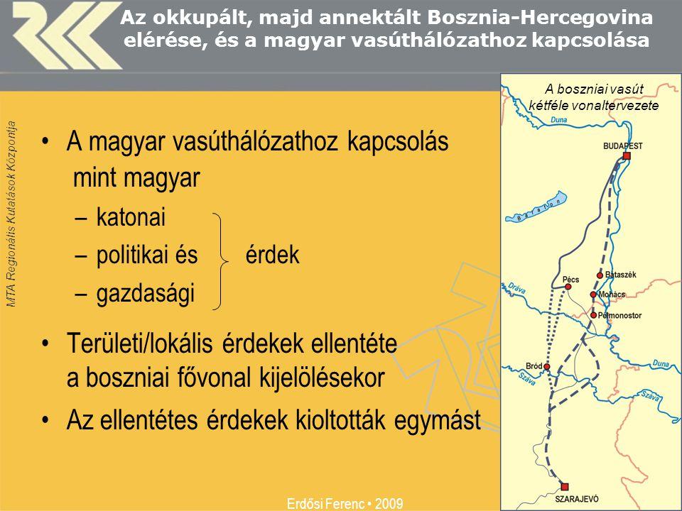 A boszniai vasút kétféle vonaltervezete