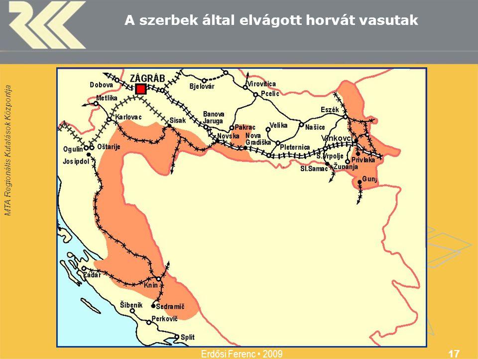 A szerbek által elvágott horvát vasutak