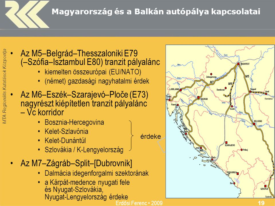 Magyarország és a Balkán autópálya kapcsolatai