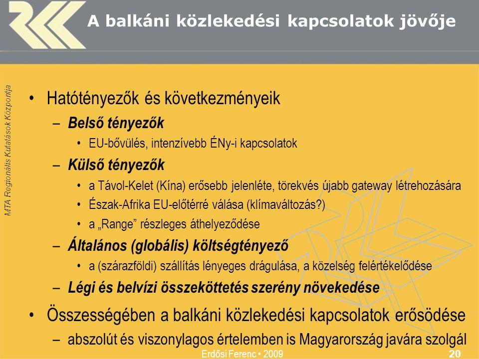 A balkáni közlekedési kapcsolatok jövője