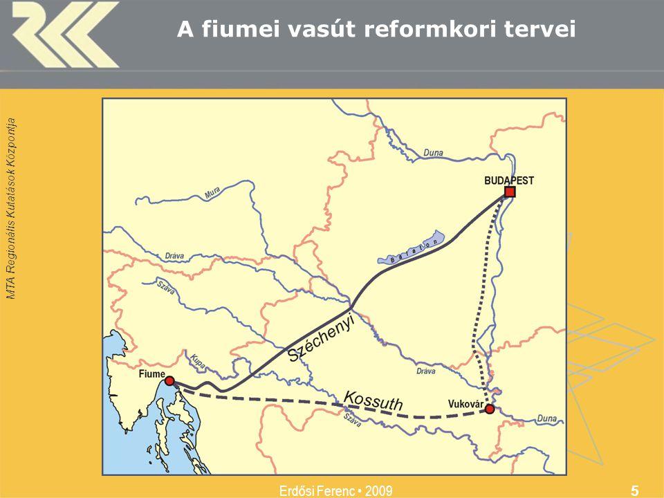 A fiumei vasút reformkori tervei