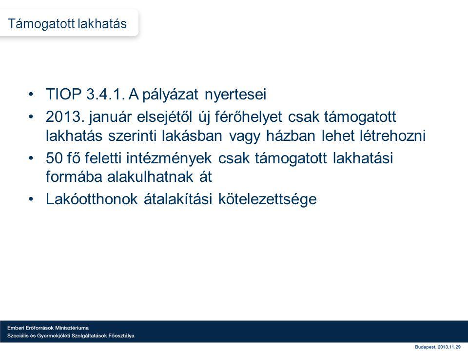 TIOP 3.4.1. A pályázat nyertesei