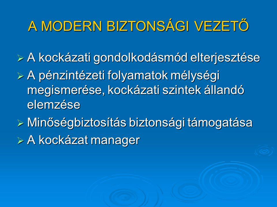 A MODERN BIZTONSÁGI VEZETŐ