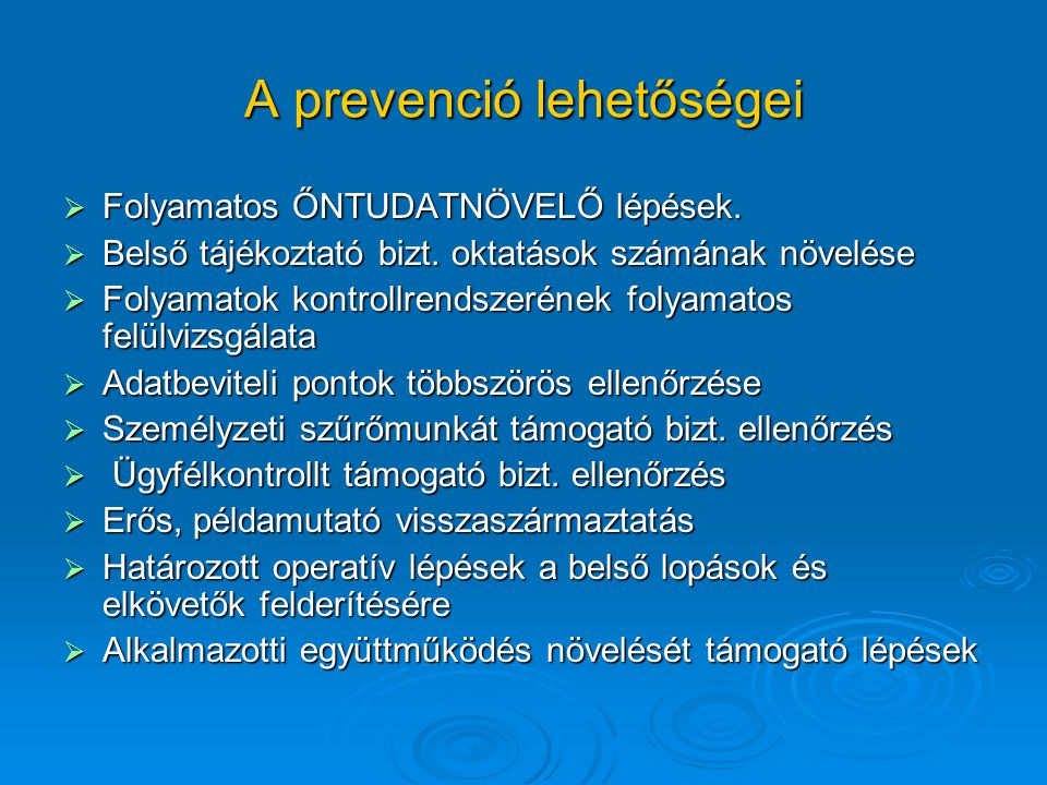 A prevenció lehetőségei
