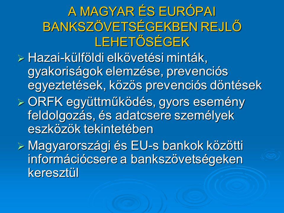 A MAGYAR ÉS EURÓPAI BANKSZÖVETSÉGEKBEN REJLŐ LEHETŐSÉGEK