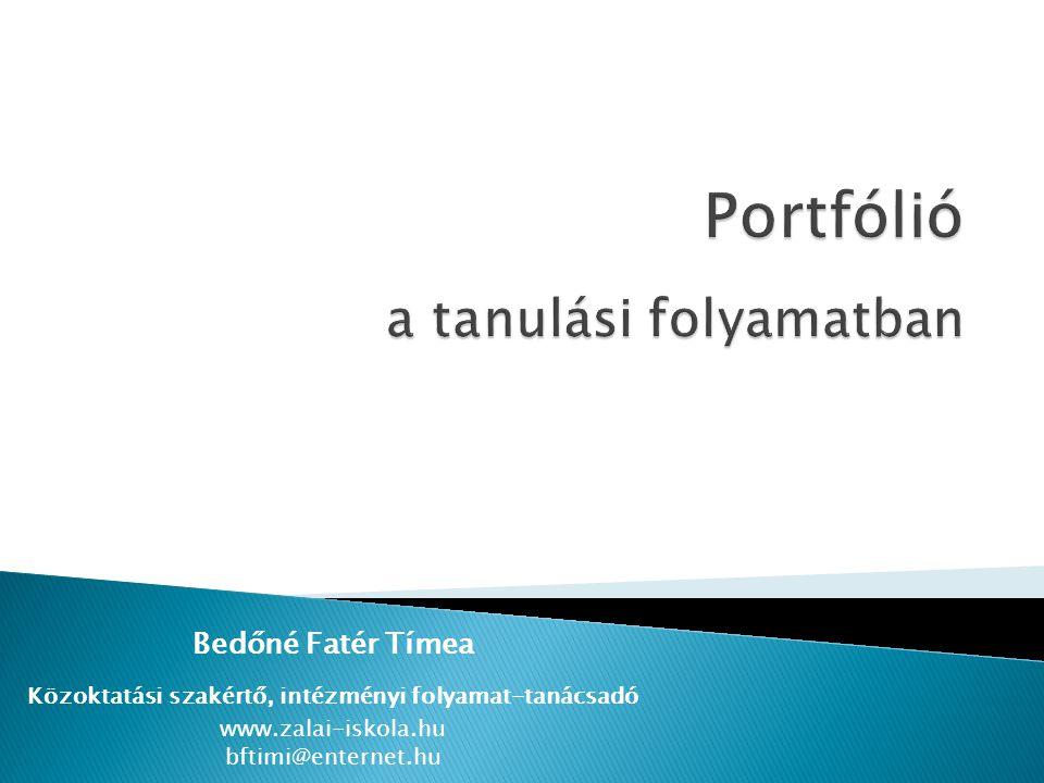 Portfólió a tanulási folyamatban
