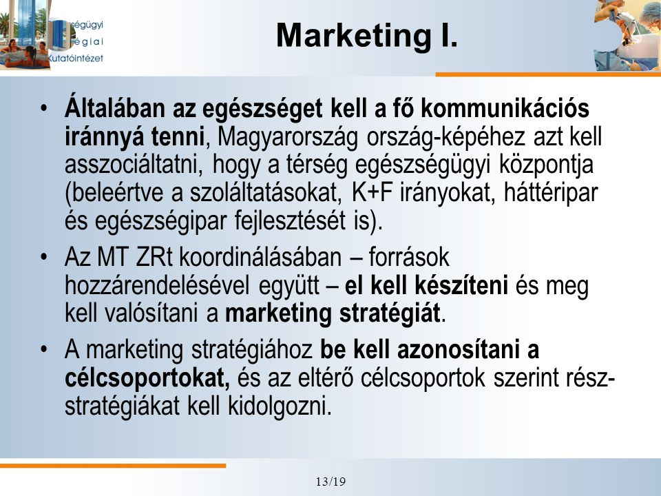 Marketing I.